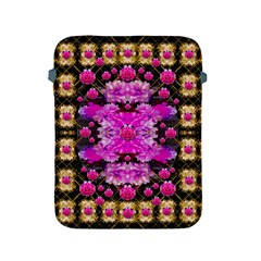 Flowers And Gold In Fauna Decorative Style Apple Ipad 2/3/4 Protective Soft Cases