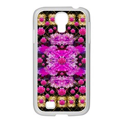 Flowers And Gold In Fauna Decorative Style Samsung Galaxy S4 I9500/ I9505 Case (white)