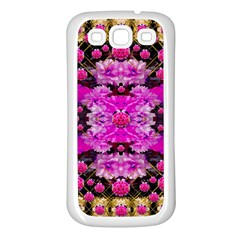 Flowers And Gold In Fauna Decorative Style Samsung Galaxy S3 Back Case (white)