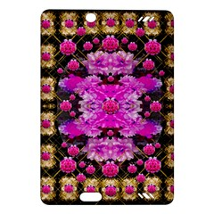 Flowers And Gold In Fauna Decorative Style Amazon Kindle Fire Hd (2013) Hardshell Case