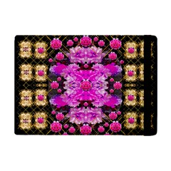 Flowers And Gold In Fauna Decorative Style Ipad Mini 2 Flip Cases