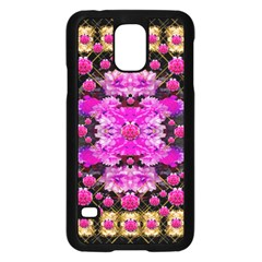 Flowers And Gold In Fauna Decorative Style Samsung Galaxy S5 Case (black)