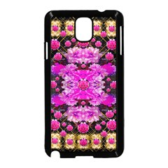 Flowers And Gold In Fauna Decorative Style Samsung Galaxy Note 3 Neo Hardshell Case (black)