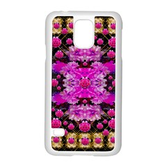 Flowers And Gold In Fauna Decorative Style Samsung Galaxy S5 Case (white)