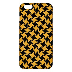 Houndstooth2 Black Marble & Orange Colored Pencil Iphone 6 Plus/6s Plus Tpu Case