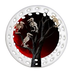 Dead Tree  Round Filigree Ornament (two Sides)