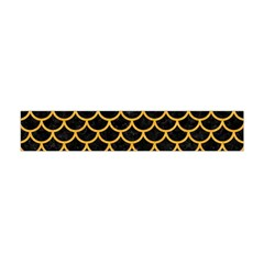 Scales1 Black Marble & Orange Colored Pencil Flano Scarf (mini)