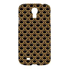 Scales2 Black Marble & Orange Colored Pencil Samsung Galaxy S4 I9500/i9505 Hardshell Case