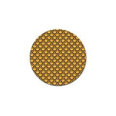 Scales2 Black Marble & Orange Colored Pencil (r) Golf Ball Marker (4 Pack)