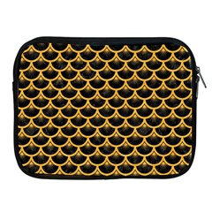 Scales3 Black Marble & Orange Colored Pencil Apple Ipad 2/3/4 Zipper Cases