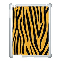 Skin4 Black Marble & Orange Colored Pencil Apple Ipad 3/4 Case (white)