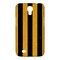 Stripes1 Black Marble & Orange Colored Pencil Samsung Galaxy Mega 6 3  I9200 Hardshell Case