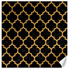 Tile1 Black Marble & Orange Colored Pencil Canvas 16  X 16