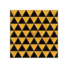 Triangle3 Black Marble & Orange Colored Pencil Acrylic Tangram Puzzle (4  X 4 )