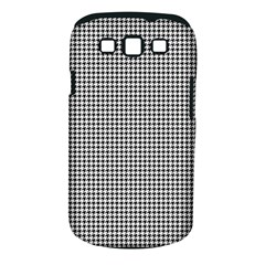 Classic Vintage Black And White Houndstooth Pattern Samsung Galaxy S Iii Classic Hardshell Case (pc+silicone)