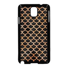 Scales1 Black Marble & Orange Watercolor (r) Samsung Galaxy Note 3 Neo Hardshell Case (black)