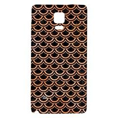 Scales2 Black Marble & Orange Watercolor (r) Galaxy Note 4 Back Case
