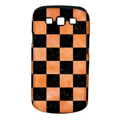 Square1 Black Marble & Orange Watercolor Samsung Galaxy S Iii Classic Hardshell Case (pc+silicone)
