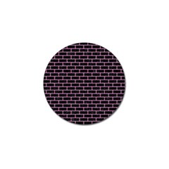 Brick1 Black Marble & Pink Colored Pencil (r) Golf Ball Marker (4 Pack)