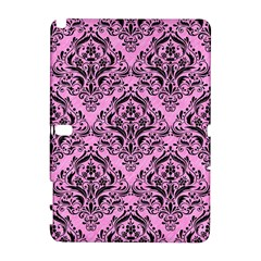 Damask1 Black Marble & Pink Colored Pencil Galaxy Note 1