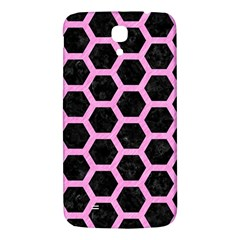 Hexagon2 Black Marble & Pink Colored Pencil (r) Samsung Galaxy Mega I9200 Hardshell Back Case