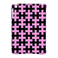 Puzzle1 Black Marble & Pink Colored Pencil Apple Ipad Mini Hardshell Case (compatible With Smart Cover)