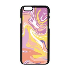 Abstract Marble 5 Apple Iphone 6/6s Black Enamel Case