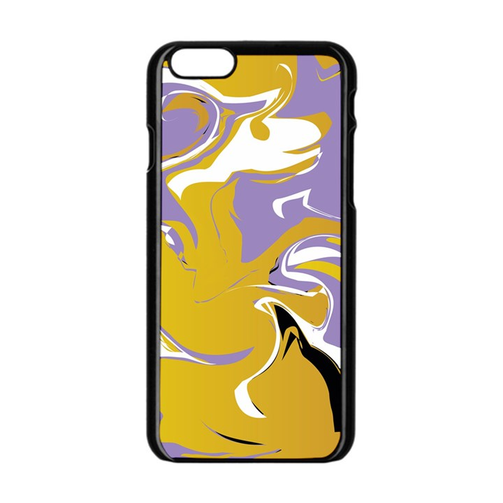 Abstract Marble 7 Apple iPhone 6/6S Black Enamel Case