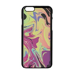 Abstract Marble 8 Apple Iphone 6/6s Black Enamel Case