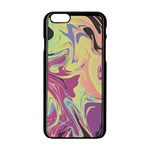 Abstract Marble 8 Apple iPhone 6/6S Black Enamel Case Front