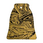 Abstract Marble 16 Bell Ornament (Two Sides) Back
