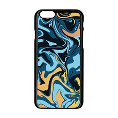 Abstract Marble 18 Apple Iphone 6/6s Black Enamel Case