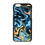Abstract Marble 18 Apple iPhone 6/6S Black Enamel Case Front
