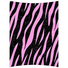Skin3 Black Marble & Pink Colored Pencil (r) Back Support Cushion