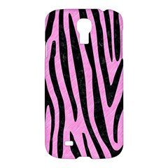 Skin4 Black Marble & Pink Colored Pencil (r) Samsung Galaxy S4 I9500/i9505 Hardshell Case