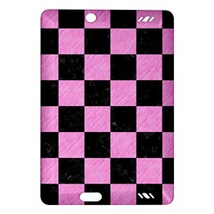Square1 Black Marble & Pink Colored Pencil Amazon Kindle Fire Hd (2013) Hardshell Case