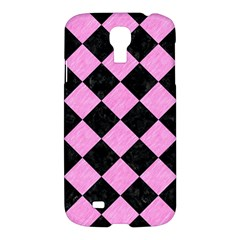 Square2 Black Marble & Pink Colored Pencil Samsung Galaxy S4 I9500/i9505 Hardshell Case