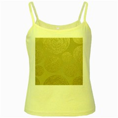 Modern, Gold,polka Dots, Metallic,elegant,chic,hand Painted, Beautiful,contemporary,deocrative,decor Yellow Spaghetti Tank