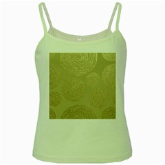 Modern, Gold,polka Dots, Metallic,elegant,chic,hand Painted, Beautiful,contemporary,deocrative,decor Green Spaghetti Tank
