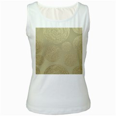 Modern, Gold,polka Dots, Metallic,elegant,chic,hand Painted, Beautiful,contemporary,deocrative,decor Women s White Tank Top