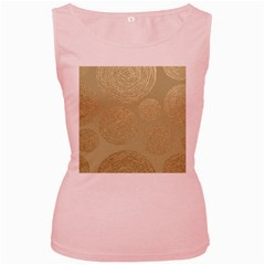 Modern, Gold,polka Dots, Metallic,elegant,chic,hand Painted, Beautiful,contemporary,deocrative,decor Women s Pink Tank Top