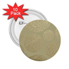 Modern, Gold,polka Dots, Metallic,elegant,chic,hand Painted, Beautiful,contemporary,deocrative,decor 2 25  Buttons (10 Pack)