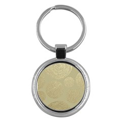 Modern, Gold,polka Dots, Metallic,elegant,chic,hand Painted, Beautiful,contemporary,deocrative,decor Key Chains (round)