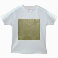 Modern, Gold,polka Dots, Metallic,elegant,chic,hand Painted, Beautiful,contemporary,deocrative,decor Kids White T Shirts