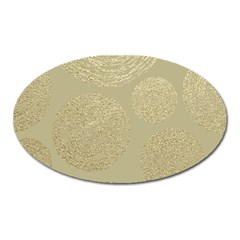 Modern, Gold,polka Dots, Metallic,elegant,chic,hand Painted, Beautiful,contemporary,deocrative,decor Oval Magnet