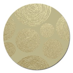 Modern, Gold,polka Dots, Metallic,elegant,chic,hand Painted, Beautiful,contemporary,deocrative,decor Magnet 5  (round)