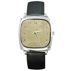 Modern, Gold,polka Dots, Metallic,elegant,chic,hand Painted, Beautiful,contemporary,deocrative,decor Square Metal Watch