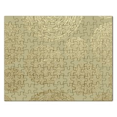 Modern, Gold,polka Dots, Metallic,elegant,chic,hand Painted, Beautiful,contemporary,deocrative,decor Rectangular Jigsaw Puzzl