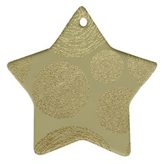 Modern, Gold,polka Dots, Metallic,elegant,chic,hand Painted, Beautiful,contemporary,deocrative,decor Star Ornament (two Sides)