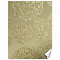 Modern, Gold,polka Dots, Metallic,elegant,chic,hand Painted, Beautiful,contemporary,deocrative,decor Canvas 36  X 48